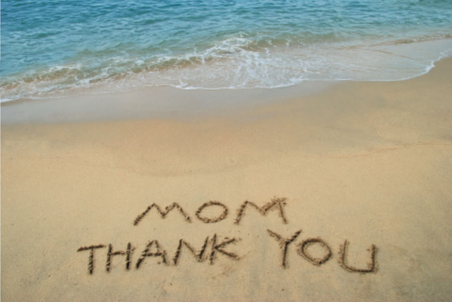 mother's day from the beach